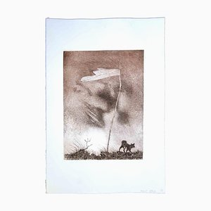Leo Guida, Lonely Flag, Original Etching, 1970