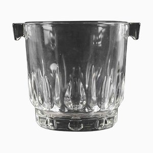 Vintage Glass Ice Bucket, Italy, 1970s