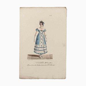 Godefroy Engelmann, Grands Théâtres de Paris - Thisbe, Litografia originale, XIX secolo