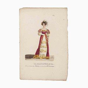 Godefroy Engelmann, Grands Théâtres de Paris, La Baronne, Original Lithograph, 19th Century