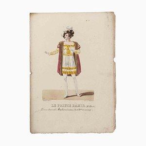 Godefroy Engelmann, Grands Théâtres de Paris, Le Prince Ramir, Original Lithograph, 19th Century