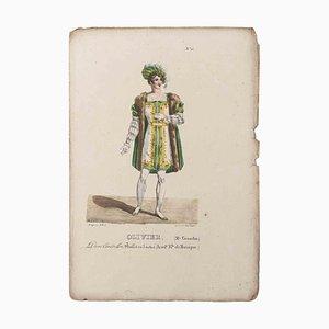 Godefroy Engelmann, Grands Théâtres de Paris, Oliveris, Original Lithographie, 19. Jahrhundert