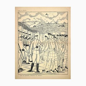 Raoul Dufy, Tirez Les Premiers, Original Holzschnitt, frühes 20. Jh