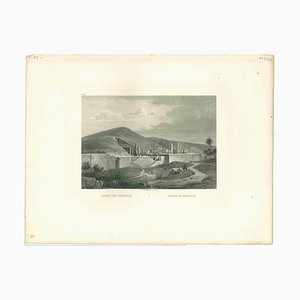 Persepolis Ruins, Original Lithographie, frühes 19. Jh