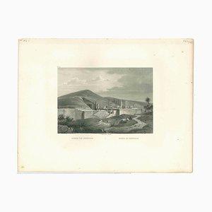 Ruinas de Persépolis, Litografía original, principios del siglo XIX