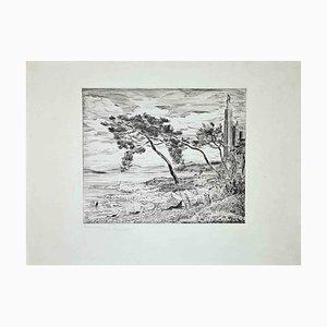 The Windy Shore, Grabado original, 1955