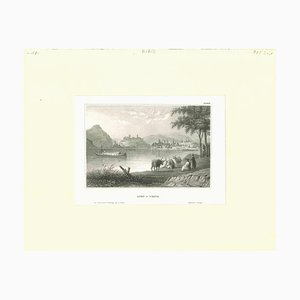 Ofen and Pesth, Original Lithograph, Early 19th Century