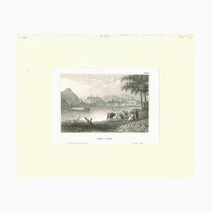 Ofen und Pesth, Original Lithographie, Frühes 19. Jh