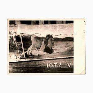 Desconocido, The Dukes of Windsor in Venice, fotografía vintage en blanco y negro, años 60