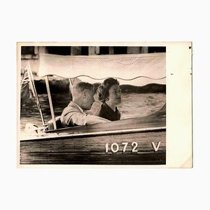 Unknown, The Dukes of Windsor in Venice, Vintage B/W Photo, 1960s