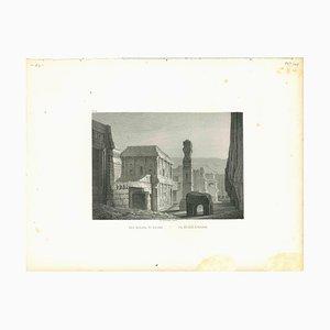 Le Kelaca À Ellora, Litografia originale, metà del XIX secolo