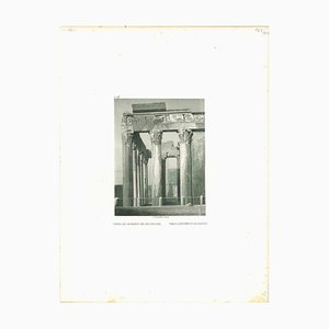 Temple d'Antonine et de Faustine, Original Lithograph, Mid-19th Century