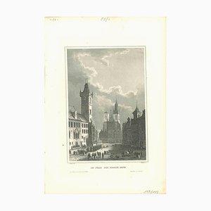 Anello In Prag der Grosse, Litografia originale, XIX secolo