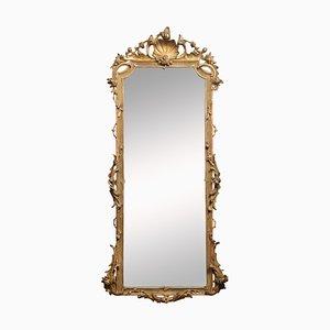 19. Spiegel mit vergoldetem Blattwerk im Louis XV Stil