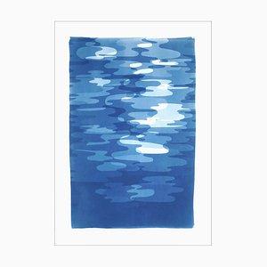 Rauch und Spiegel, handgefertigte Blautönen Cyanotype Prints of Reflections, 2021