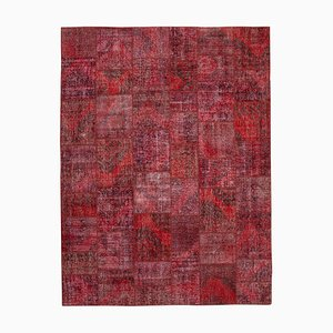 Roter Patchwork Teppich
