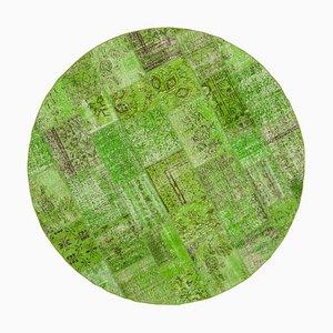 Green Round Patchwork Rug