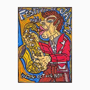 Festival De Jazz De Paris by Robert Combas