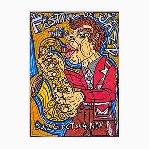 Festival De Jazz De Paris di Robert Combas