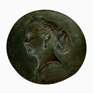 Napoleon III Period Tondo in Bronze