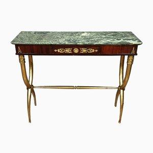 Consola estilo Imperio de caoba y bronce dorado de Maison Jansen