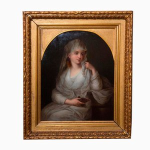 Dipinto, Ritratto di donna in vestaglia, XIX secolo