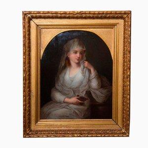 Gemälde, Portrait einer Dame in Vestal Dress, 19. Jh