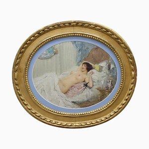 Pintura de niña desnuda de K. Somov, 1897