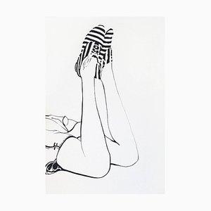 Anna Malikowska, Angel 3: Pintura figurativa contemporánea acrílica sobre lienzo, 2015