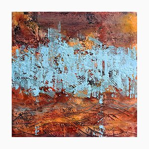 Andrew Francis, Borderland I, Contemporary Encaustic Abstract Painting, 2020