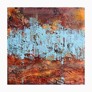 Andrew Francis, Borderland I, pintura abstracta encáustica contemporánea, 2020