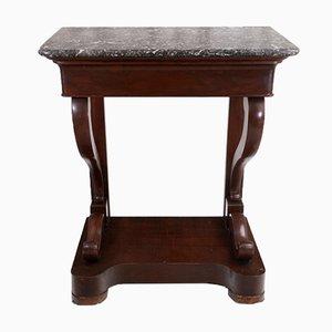 Table Console Antique en Acajou, 19ème Siècle