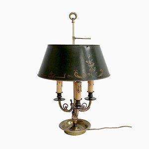 Empire Vergoldete Bronze Bouillotte Lampe mit 3 Armen, 19. Jh