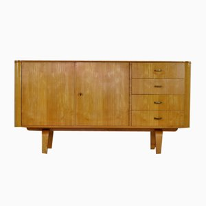 Laminated Birchwood Cabinet by W. Lutjens, 1950s