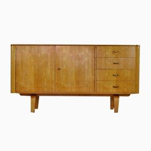Mueble de abedul laminado de W. Lutjens, años 50