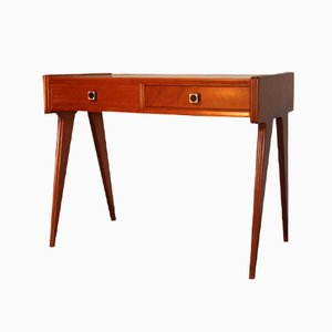 Mid-Century Italian Desk with White Top, 1950s