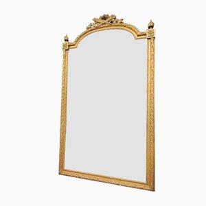Großer Napoleon III Spiegel mit vergoldetem Rahmen