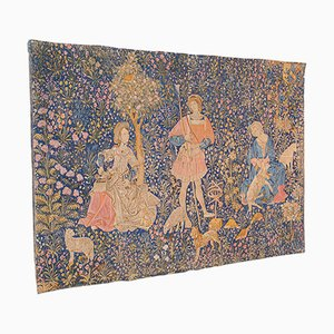 Large Antique French Needlepoint Tapestry, 1920s