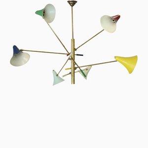 Lámpara de araña articulada de Stilnovo, años 50