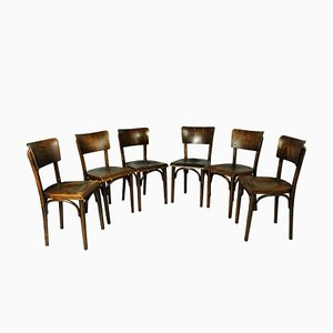 Pub Chairs from Thonet, 1930s, Set of 6