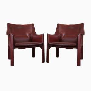 CAB-B11 Armchairs by Mario Bellini for Cassina, 1970s, Set of 2