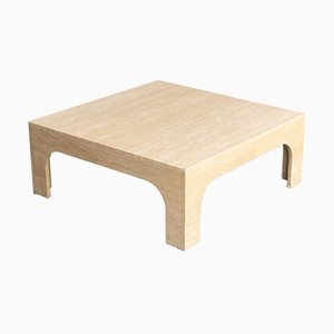 Travertine Coffee Table by Willy Rizzo