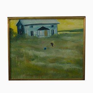 Beppe Wolgers, pintura sueca moderna, óleo sobre lienzo, años 70