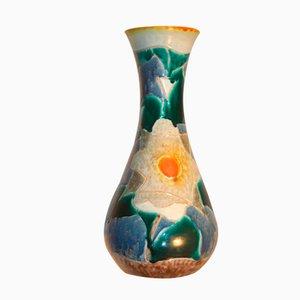 Vaso con decorazioni tibetane di Giuseppe Mazzotti Albisola, 1950