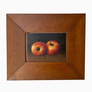 Nelly Trumel, Bodegón de manzanas, óleo sobre tabla, siglo XX