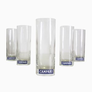 Glasses from Campari, 1970s, Set of 5