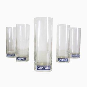 Vasos de Campari, años 70. Juego de 5