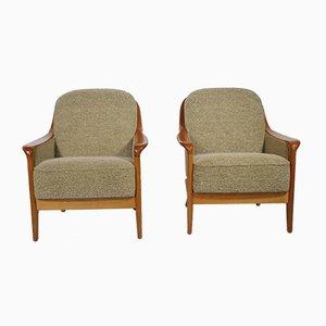 Mid-Century Kirschholz Stühle, 1970er, 2er Set