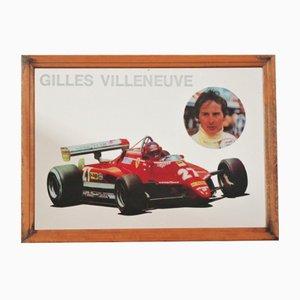 Gilles Villuste Rahmen Spiegel von Ferrari, 1980er