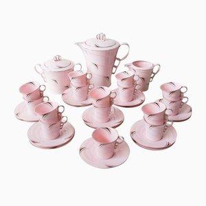 Czech Art Deco Porcelain Coffee Set, Set of 33